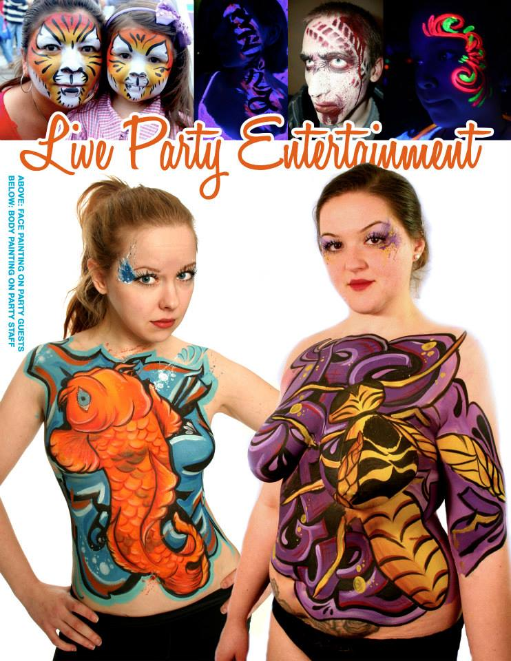 Face & Body Painting: Corporate Event Entertainment Ideas