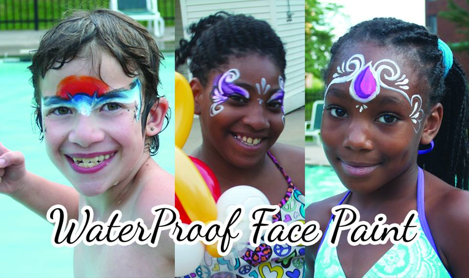 MAKE A SPLASH at your next party - surprise your guests with waterproof face & body painting in CT, MA, or RI!