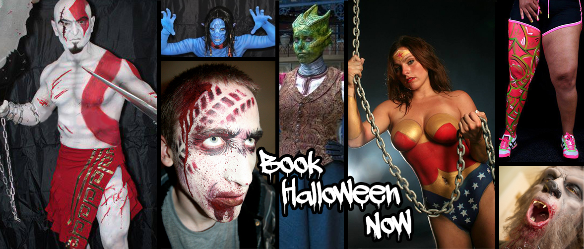 Book Your CT Halloween Costume Body Painting Now
